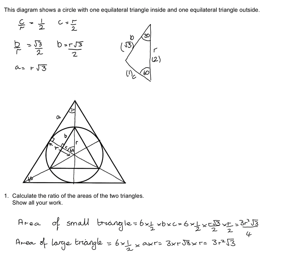 Figure 1 Multiple Solution Methods For A Geometry Task
